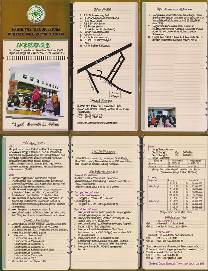 Brosur Fakultas Kedokteran Universitas Muhammadiyah Palembang
